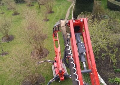View from the platform. A tree surgeon definitely needs a good head for heights