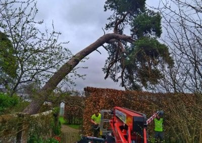 Cherry picker was required and brought to site