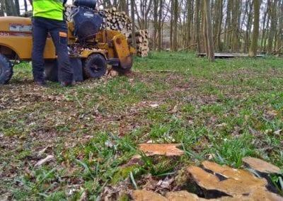 Stump grinding machinery